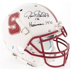 "Jim Plunkett Signed Stanford Cardinal Authentic Full-Size Helmet Inscribed ""Heisman 1970"" (Radtke CO"