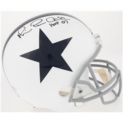 "Michael Irvin Signed Cowboys Full-Size Helmet Inscribed ""HOF 07"" (Radtke COA)"
