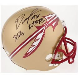 "Devonta Freeman Signed Florida State Seminoles Full-Size Helmet Inscribed ""2730 YDS""  ""31TDS"" (Radtk"