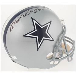 "Ed ""Too Tall"" Jones Signed Cowboys Full-Size Helmet (Radtke COA)"