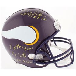 Chris Doleman Signed Vikings Full-Size Throwback Helmet with (4) Career Stat Inscriptions (Radtke CO
