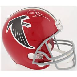 Deion Sanders Signed Falcons Full-Size Replica Helmet (Radtke COA)