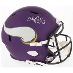 "Chris Doleman Signed Vikings Full-Size Speed Helmet Inscribed ""HOF 12"" (Radtke COA)"