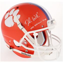 "Deshaun Watson Signed Clemson Tigers Full-Size Helmet Inscribed ""2016 National Champs"" (Watson Holog"
