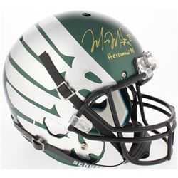 "Marcus Mariota Signed Oregon Ducks Full-Size Helmet Inscribed ""Heisman '14"" (Radtke COA  Mariota Hol"