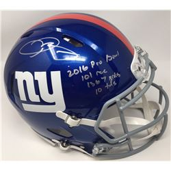 Odell Beckham Jr. Signed Giants Limited Edition Full-Size Authentic On-Field Speed Helmet Inscribed
