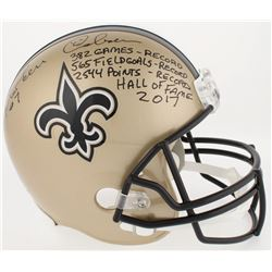 Morten Andersen Signed LE Saints Full-Size Helmet With Multiple Inscriptions (Radtke COA)