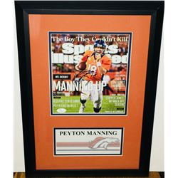 Peyton Manning Signed Broncos 14x20 Custom Framed Sports Illustrated Magazine (JSA COA)
