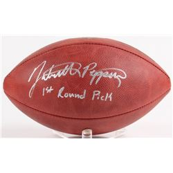 "Jabrill Peppers Signed Official NFL Game Ball Inscribed ""1st Round Pick"" (JSA COA)"