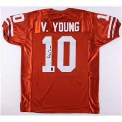 """Vince Young Signed Texas Jersey Inscribed """"05 Nat'l Champs"""" (JSA COA  Young Hologram)"""
