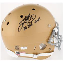"Ricky Watters Signed Notre Dame Fighting Irish Full-Size Helmet Inscribed ""88' Nat. Champs"" (Radtke"
