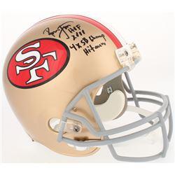 "Ronnie Lott Signed 49ers Full-Size Throwback Helmet Inscribed ""HOF 2000,"" ""4X SB Champ,""  ""Hitman"" ("
