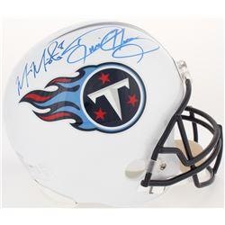 Derrick Henry  Marcus Mariota Signed Titans Full-Size Helmet (Radtke COA, Beckett COA, Henry Hologra