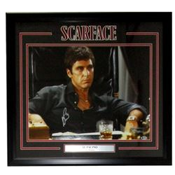 "Al Pacino Signed ""Scarface"" 22x27 Custom Framed Photo Display (Beckett COA)"