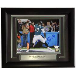 LeGarrette Blount Signed Eagles 11x14 Custom Framed Photo Display (JSA COA)