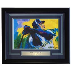 "Leroy Neiman ""Ken Griffey Jr."" 16x20 Custom Framed Print Display"
