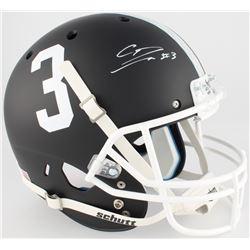 Calvin Ridley Signed Alabama Crimson Tide Custom Matte Black Full-Size Helmet (Radtke COA)