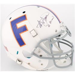 "Steve Spurrier Signed Florida Gators Throwback Full-Size Authentic On-Field Helmet Inscribed ""66 Hei"