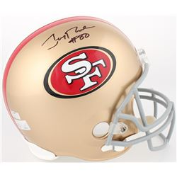 Jerry Rice Signed 49ers Full Size Helmet (Rice Hologram  Radtke COA)