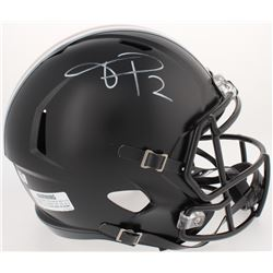 Terrelle Pryor Signed Ohio State Buckeyes Full-Size Custom Matte Black Speed Helmet (Radtke COA)