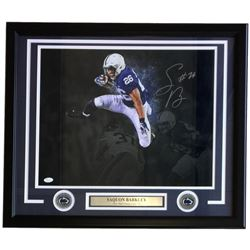 Saquon Barkley Signed Penn State Nittany Lions 22x27 Custom Framed Photo Display (JSA COA)