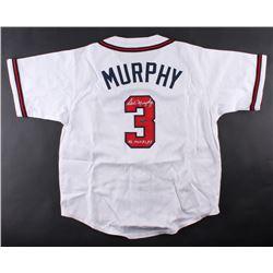 "Dale Murphy Signed Braves Jersey Inscribed ""NL MVP 82, 83"" (Radkte COA)"