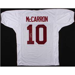 "AJ McCarron Signed Alabama Crimson Tide Jersey Inscribed ""We Own Alabama"" (McCarron Hologram)"