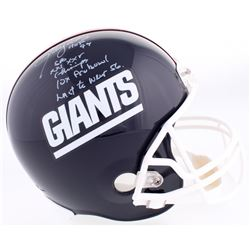 Lawrence Taylor Signed Giants LE Full-Size Helmet With (4) Stat Inscriptions (Radtke COA)