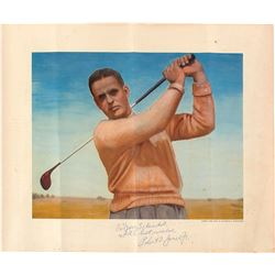 "Robert T. Jones Jr. Signed 15x17 Dwight D. Eisenhower Print Inscribed ""With Best Wishes"" (PSA LOA)"