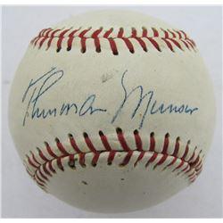 Thurman Munson Signed OL Baseball (PSA LOA)