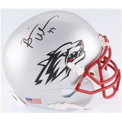 Brian Urlacher Signed New Mexico Lobos Mini Helmet (JSA COA)
