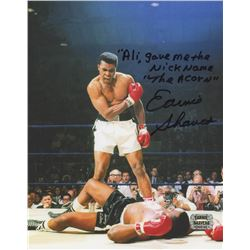 """Earnie Shavers Signed """"Muhammad Ali vs. Sonny Liston"""" 8x10 Photo With Extensive Inscription (Shavers"""