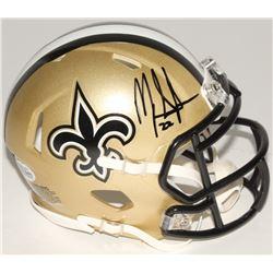 Mark Ingram Signed Saints Speed Mini Helmet (Beckett COA)