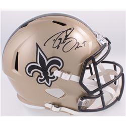 Drew Brees Signed Saints Full-Size Speed Helmet (Beckett COA)