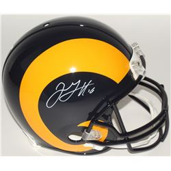 Jared Goff Signed Rams Full-Size Authentic On-Field Helmet (Fanatics Hologram)