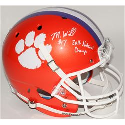 "Mike Williams Signed Clemson Tigers Full-Size Helmet Inscribed ""2016 National Champs"" (Beckett COA)"