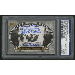 2009 Upper Deck A Piece of History #161 D-Day Invasion Signed by (4) with Don Jakeway, Bernard Nolan