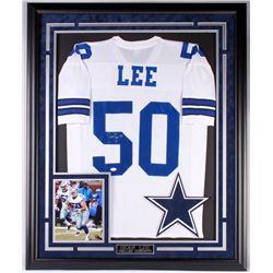 Sean Lee Signed Cowboys 35.75x43.75 Custom Framed Jersey Display (JSA COA)
