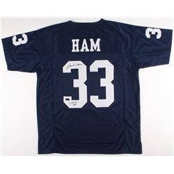 "Jack Ham Signed Penn State Nittany Lions Jersey Inscribed ""CHOF 90"" (Radtke COA)"