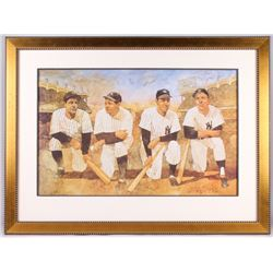 Bart Forbes Signed AP Yankees 30x39.75 Custom Framed Display (PA LOA)