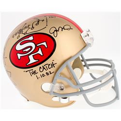 """Dwight Clark  Joe Montana Signed 49ers Full-Size Helmet Inscribed """"The Catch""""  """"1-10-82"""" with Hand-D"""