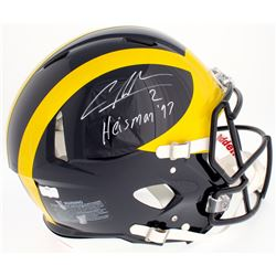 "Charles Woodson Signed Michigan Wolverines Full-Size Authentic On-Field Speed Helmet Inscribed ""Heis"