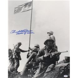 "Hershel W. Williams Signed ""Raising The Flag On Iwo Jima"" 16x20 Photo Inscribed ""Medal of Honor"" (PS"