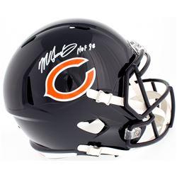 """Mike Singletary Signed Bears Full-Size Speed Helmet Inscribed """"HOF 98"""" (Beckett COA)"""