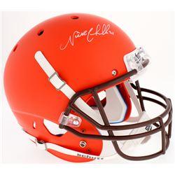 Nick Chubb Signed Browns Custom Matte Orange Full-Size Helmet (Radtke COA)