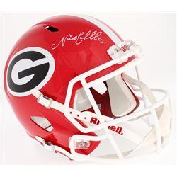 Nick Chubb Signed Georgia Bulldogs Full-Size Speed Helmet (Radtke COA)