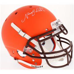 Nick Chubb Signed Browns Custom Matte Orange Full-Size Authentic On-Field Helmet (Radtke COA)