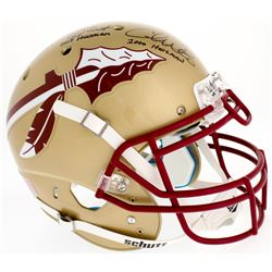 Jameis Winston, Charlie Ward  Chris Weinke Florida State Seminoles Full-Size Authentic On-Helmet wit
