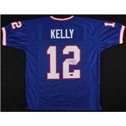 "Jim Kelly Signed Bills Jersey Inscribed ""HOF 02"" (Radtke COA)"