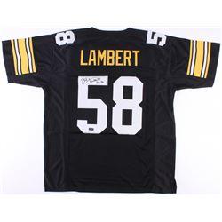 "Jack Lambert Signed Steelers Jersey Inscribed ""HOF 90"" (Radtke COA)"